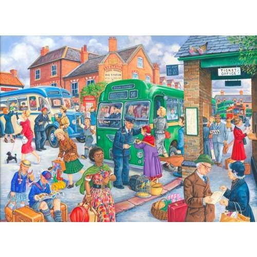 Bus Station - Extra Large jigsaw puzzle