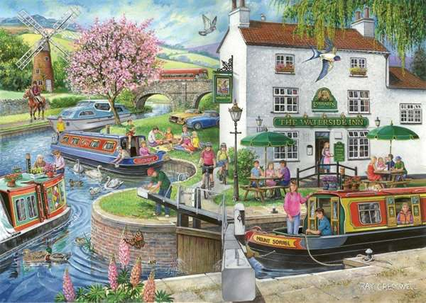 By The Canal - Find The Difference No 6 jigsaw puzzle