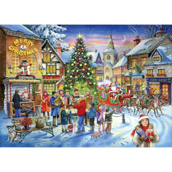 Christmas Shopping - 1000 Piece jigsaw puzzle