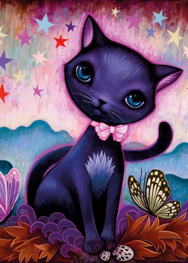 Black Kitty - 1000pc jigsaw puzzle