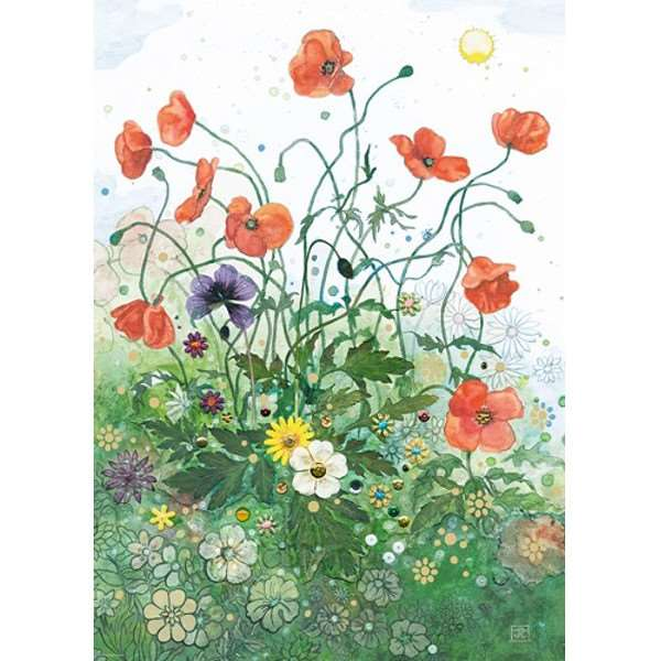 Red Poppies - 1000pc jigsaw puzzle