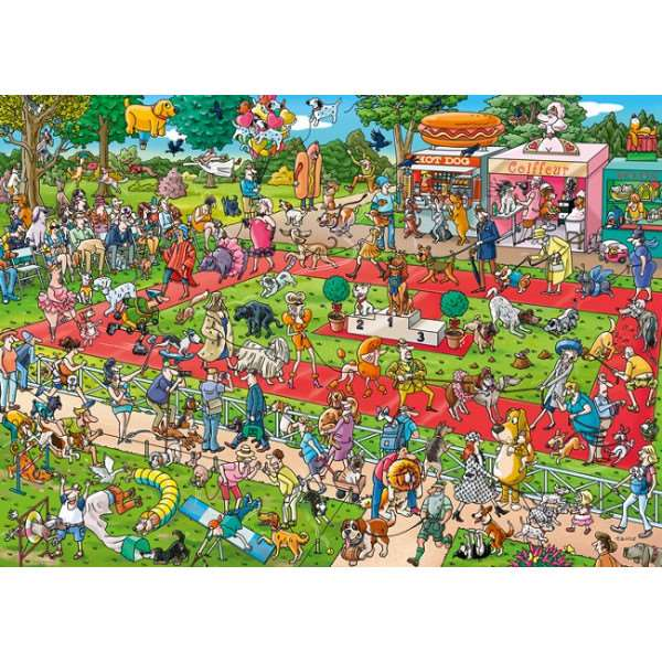 Dog Show, Tanck - 1000pc jigsaw puzzle