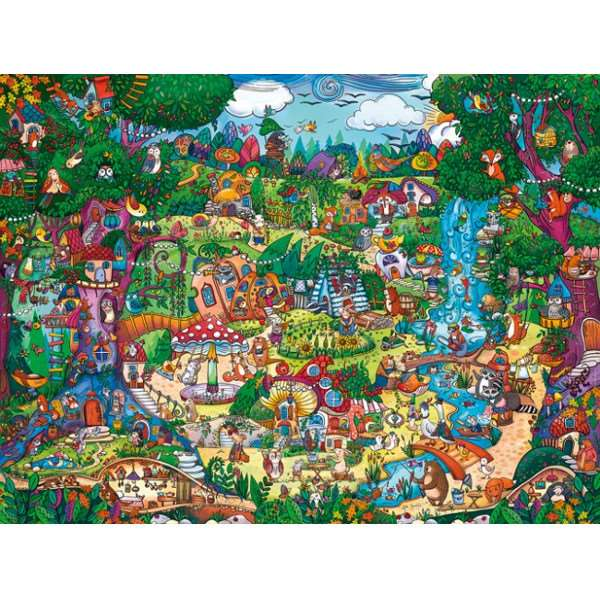 Wonderwoods - Triangular - 1500pc jigsaw puzzle