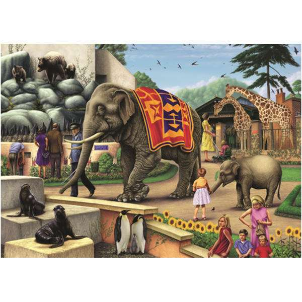 A Day at the Zoo - 1000pc jigsaw puzzle
