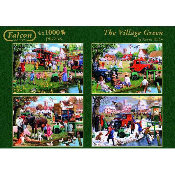 The Village Green - 4 x 1000pc jigsaw puzzle