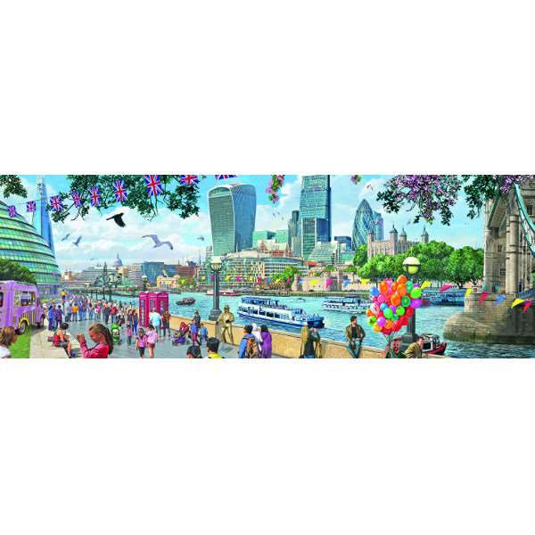 Around Britain - River Thames - 1000pc jigsaw puzzle