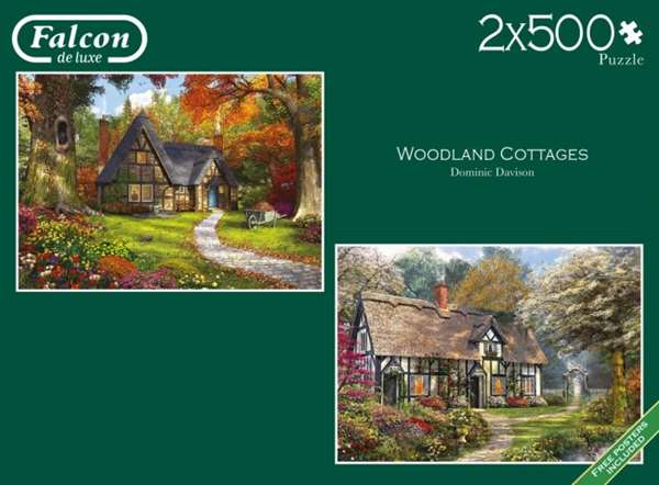 Woodland Cottages - 2x500pc jigsaw puzzle