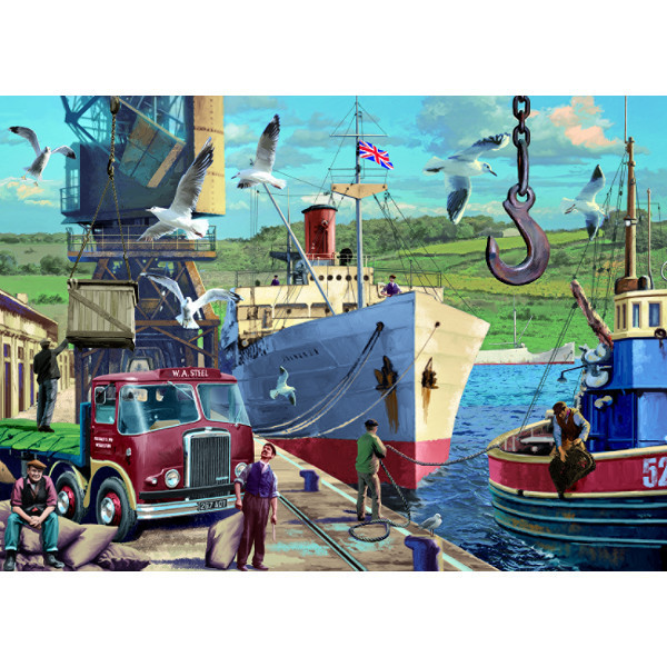 Down at the Docks - 1000pc jigsaw puzzle