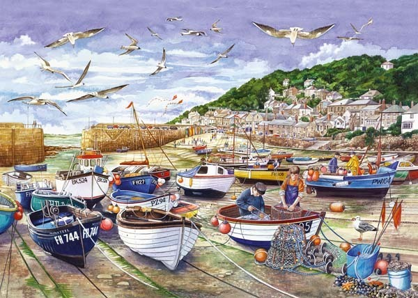 Around Britiain - Mousehole - 1000pc jigsaw puzzle