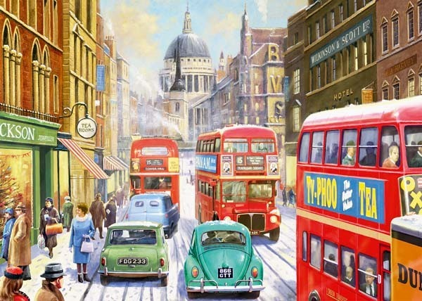 Snow in London City - 1000pc jigsaw puzzle