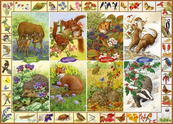 Seasonal Wildlife - 1000pc jigsaw puzzle