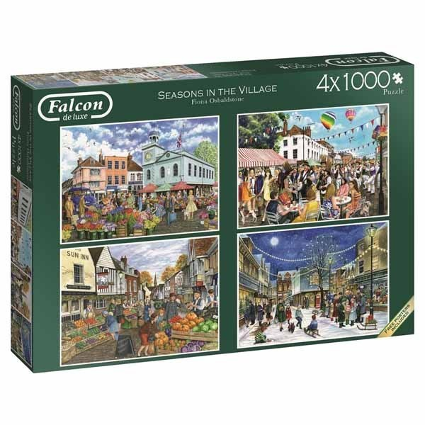 Seasons in the Village - 4 x 1000pc jigsaw puzzle