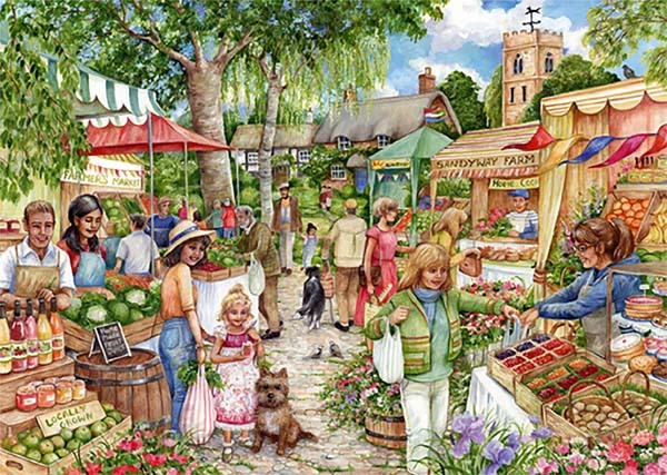 Farmers Market - 1000pc Jigsaw Puzzle from Jigsaw Puzzles