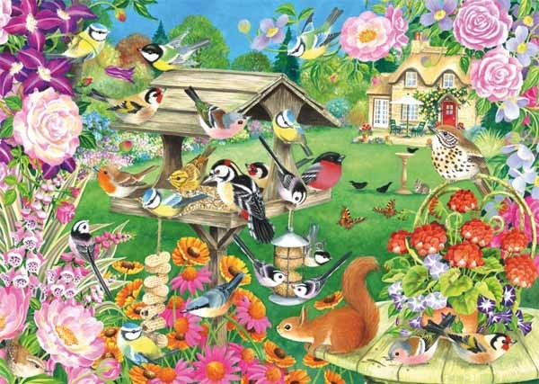 Summer Garden Birds - 500pc jigsaw puzzle