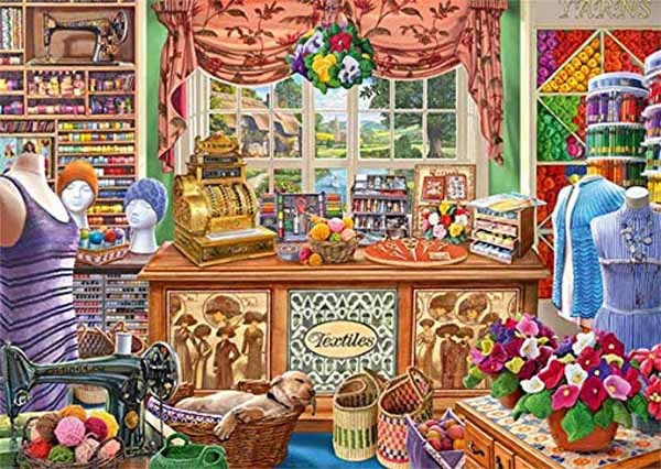 The Haberdashers Shoppe - 1000pc jigsaw puzzle