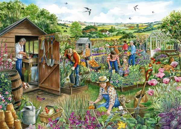 Down at the Allotment - 1000pc jigsaw puzzle
