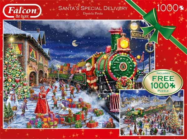 Santas Special Delivery - 2 x 1000pc jigsaw puzzle