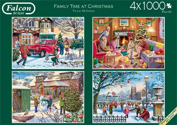 Family Time at Christmas - 4 x 1000pc jigsaw puzzle