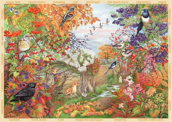 Autumn Hedgerow - 500pc jigsaw puzzle