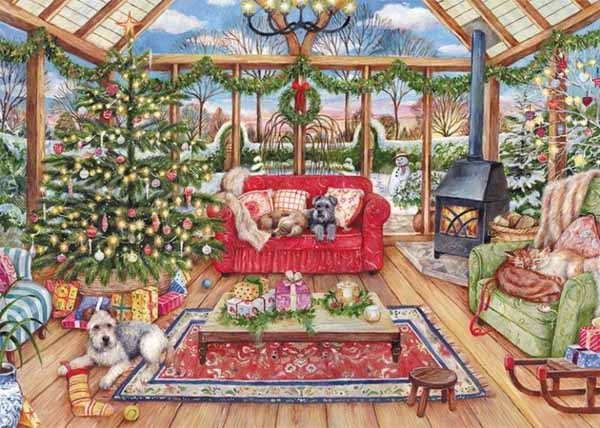 The Christmas Conservatory - 1000pc jigsaw puzzle