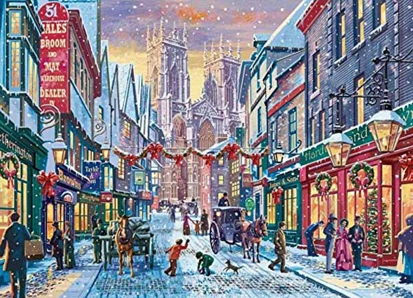 Christmas in York - 1000pc jigsaw puzzle
