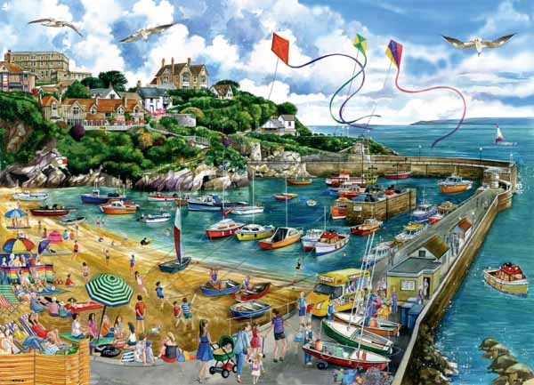 Newquay Harbour - 1000 piece jigsaw puzzle