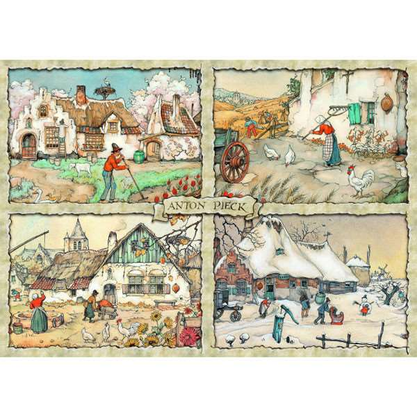Anton Pieck - 1000pc - 4 Seasons jigsaw puzzle