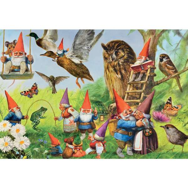 At the Forest with the Gnomes - 1000pc jigsaw puzzle
