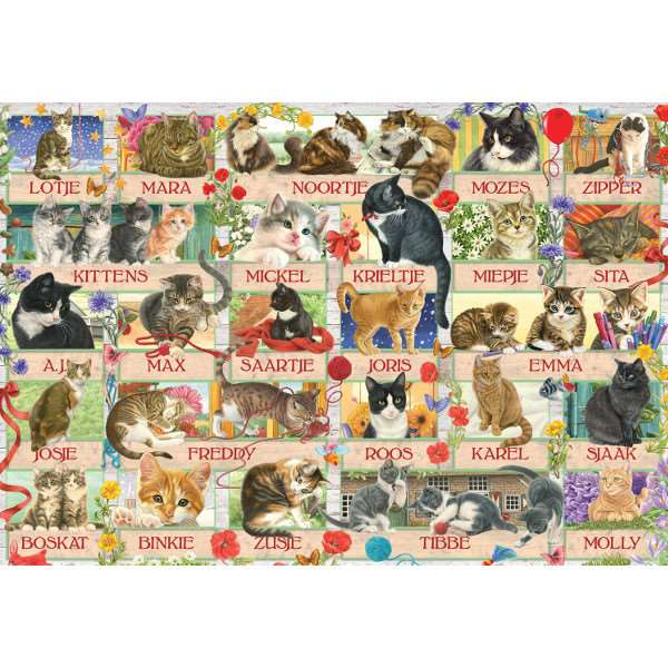 Cat Anniversary - Franciens - 1000pc jigsaw puzzle