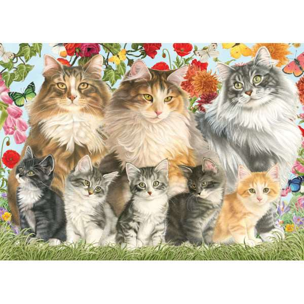 Cat Family - Francien - 500pc jigsaw puzzle