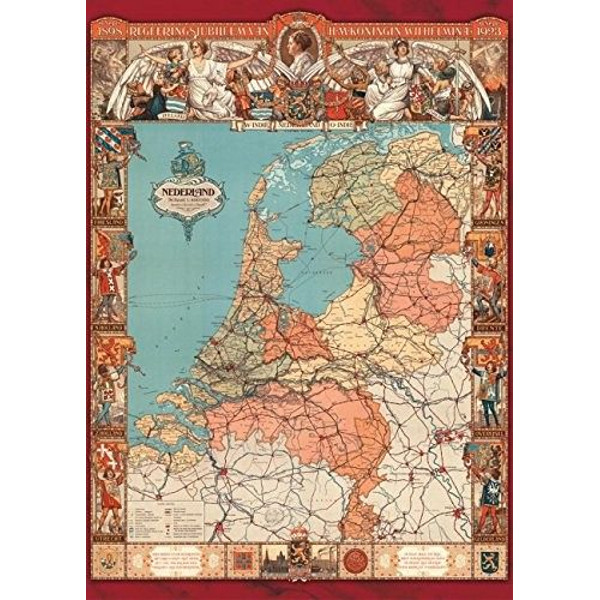 Cornelis Jetses - Map of Holland - 500pc jigsaw puzzle