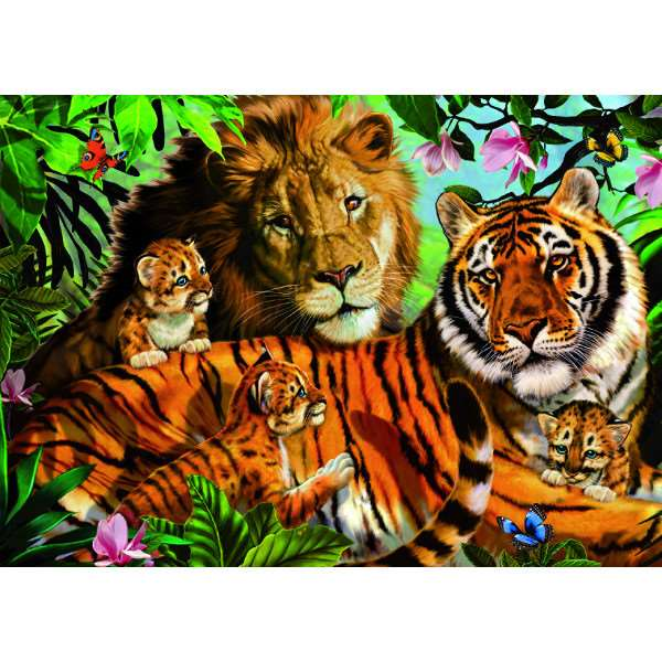 Wild Cats - 1000pc jigsaw puzzle