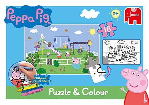 Peppa Pig - Puzzle and Play - 18pc jigsaw puzzle