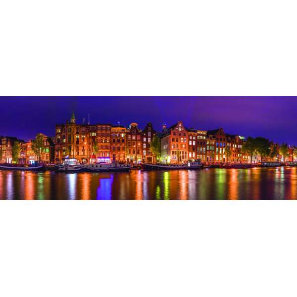 Amsterdam Skyline - Panoramic - 1000pc jigsaw puzzle