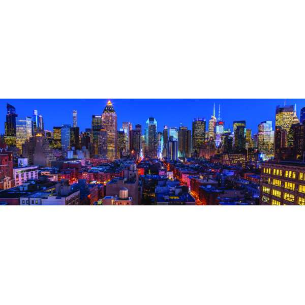 New York Skyline - Panoramic - 1000pc jigsaw puzzle