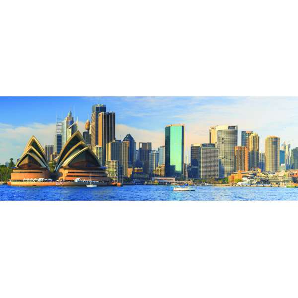 Sydney Skyline - Panoramic - 1000pc jigsaw puzzle