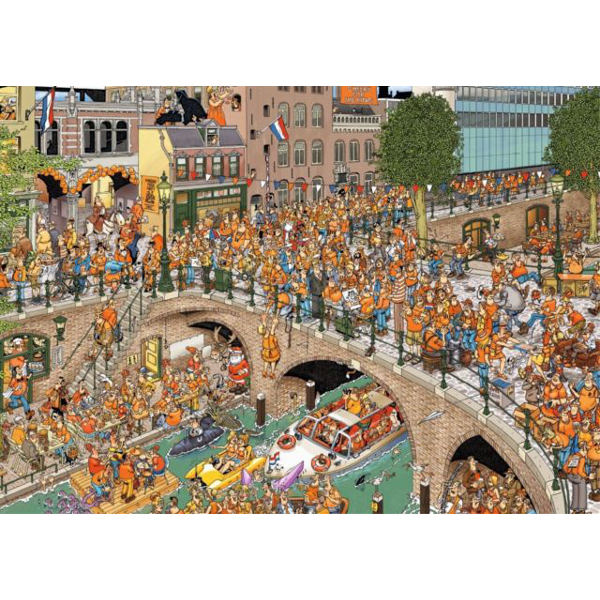 Jan Van Haasteren - Kingsday - 1000pc jigsaw puzzle