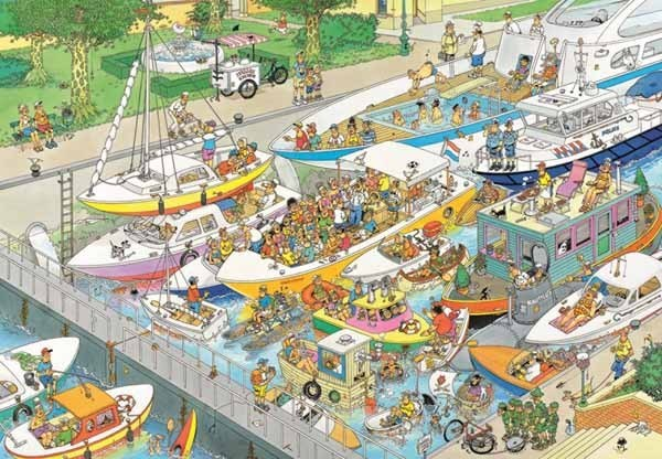 Jan van Haasteren - The Locks - 1000pc jigsaw puzzle