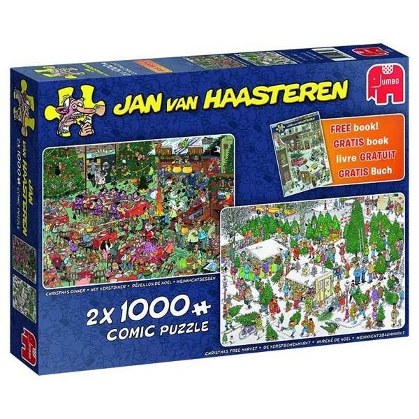 JvH - Christmas Gifts - 2 x 1000pc jigsaw puzzle
