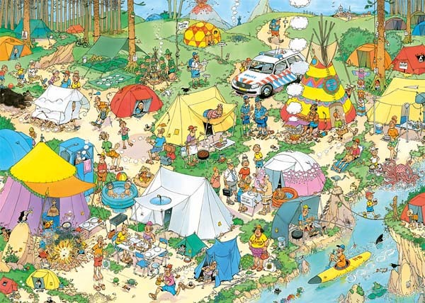 JvH - Camping in the Forest - 2000pc jigsaw puzzle