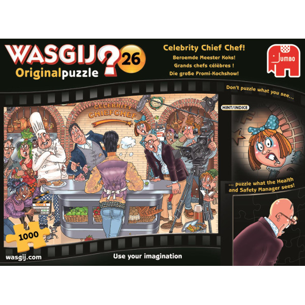 Wasgij - Original 26 - Celebrity Chief Chef jigsaw puzzle