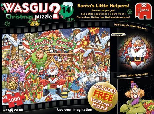 Wasgij Christmas 14 - Santas Little Helpers - 2 x 1000pc jigsaw puzzle