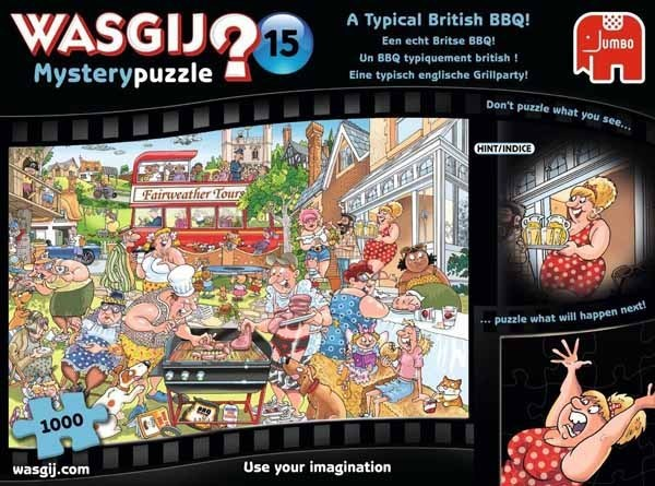 Wasgij Mystery 15 - A Typical British BBQ - 1000pc jigsaw puzzle