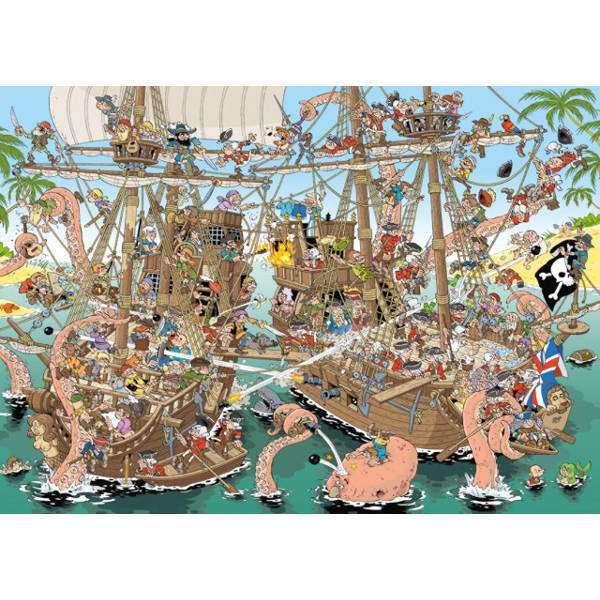 Pieces of History - Pirates - 1000pc jigsaw puzzle