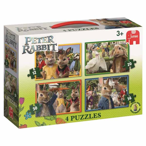 Peter Rabbit - 4 in 1 jigsaw puzzle