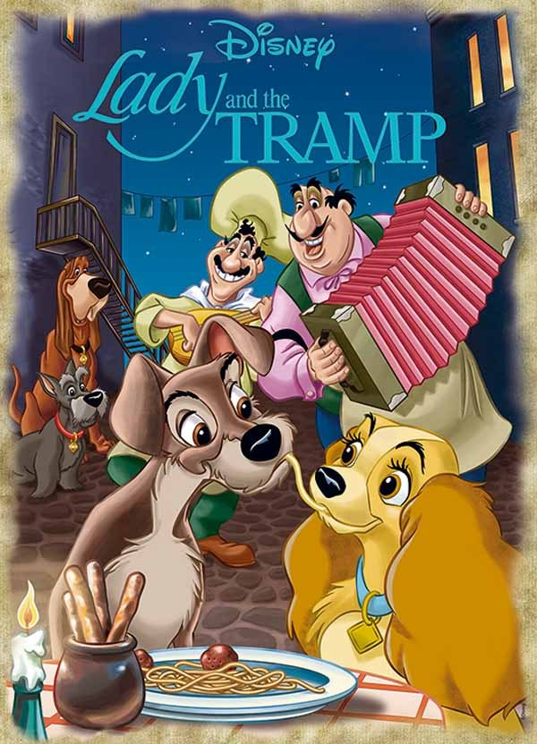 Disney Lady and the Tramp - 1000pc jigsaw puzzle