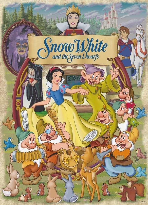 Disney - Classic Movie Poster Puzzle - Snow White - 1000pc jigsaw puzzle