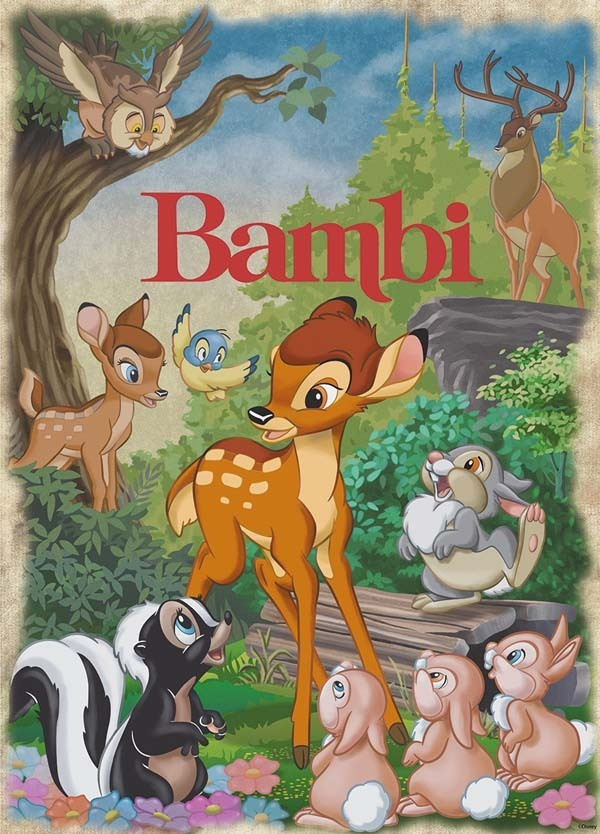 Disney - Classic Movie Poster Puzzle - Bambi - 1000pc jigsaw puzzle