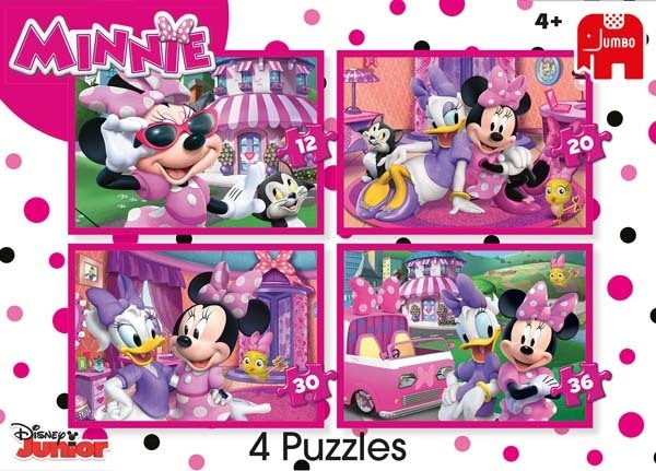 Disney Minnie Mouse - 4 in 1 jigsaw puzzle