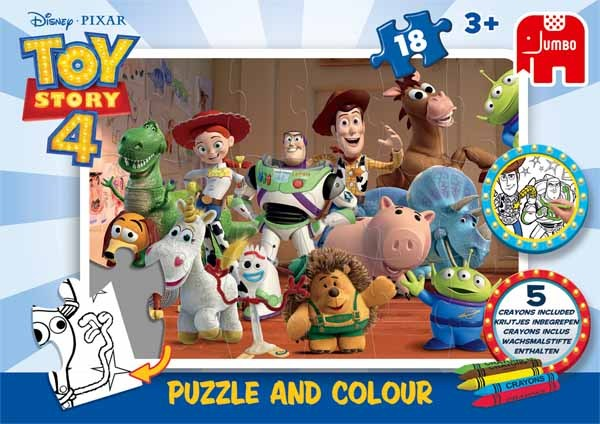 Toy Story 4 - Puzzle and Colour - 18pc jigsaw puzzle